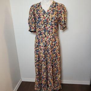 VTG 80s Melanie Drucker Cottagecore Maxi Dress 8